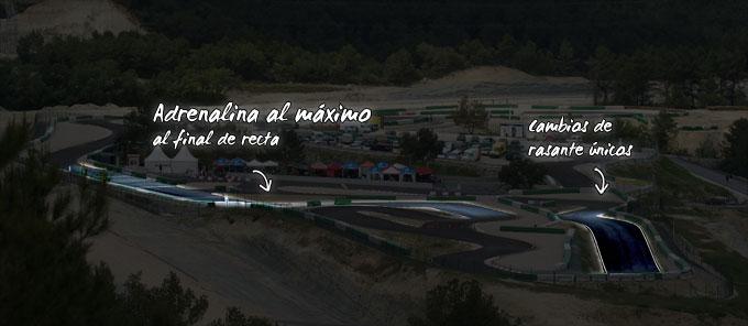 Karting ParcMotor curvas con bajadas y peraltes