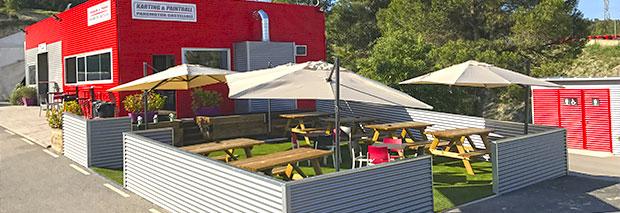 Karting ParcMotor terraza bar restaurante