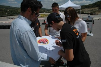 Dedicatoria final al Karting