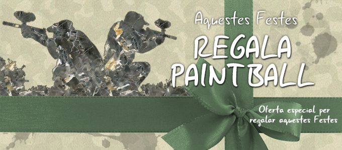 Regala paintball / oferta nadal
